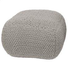KINLEY OTTOMAN  Gray Knit Cotton Pouf