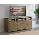 Liam - 64-inch TV Console - Gray Acacia/galvanized Metal Finish Product Image