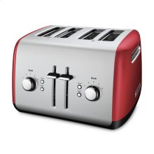 4-Slice Toaster with Manual High-Lift Lever - Empire Red