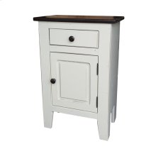Small Nightstand - Vintage White w/ Vintage Cola Top