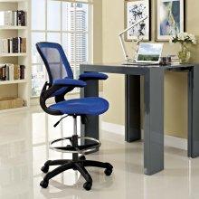 Veer Drafting Chair in Blue