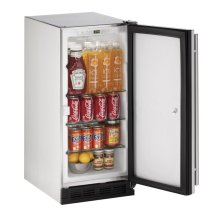 15 Outdoor Refrigerator Stainless Solid (Lock) Field Reversible