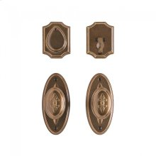 """Oval Bordeaux Entry Set - 2 1/2"""" x 5 1/2"""" Silicon Bronze Brushed"""