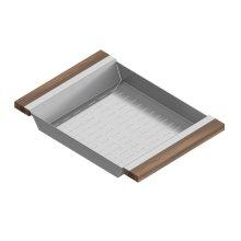 Colander 205229 - Stainless steel sink accessory , Walnut
