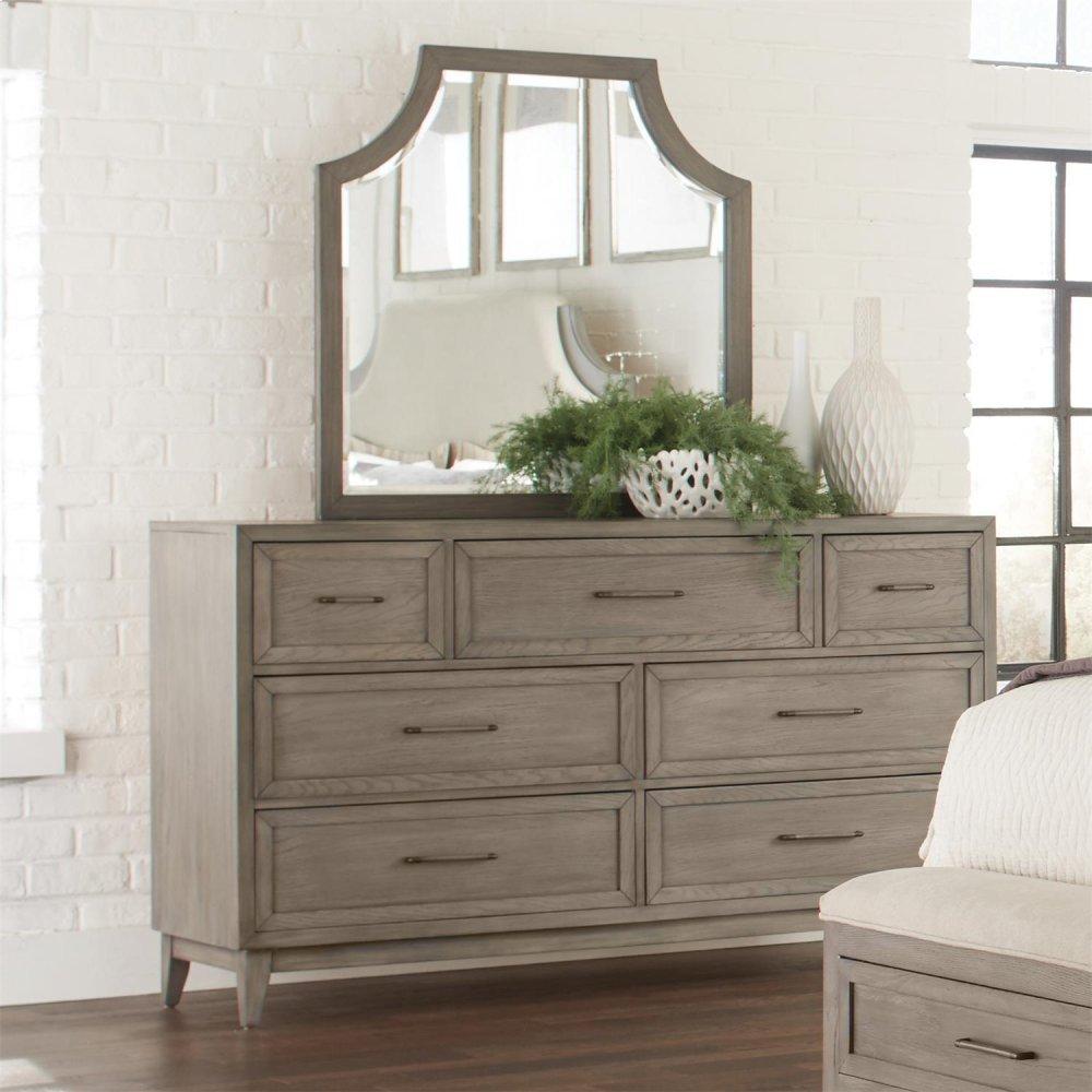 Vogue - Arch Mirror - Gray Wash Finish