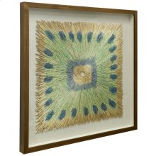 3 Dimensional Sculpture  Shadow Box with Glass  32in X 32in X 2in