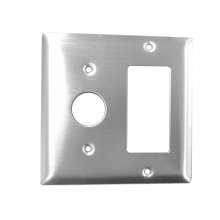 Radiant Double Gang Plate - Brushed