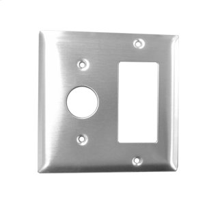 Radiant Double Gang Plate - Brushed Product Image