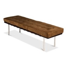 Prince Albert Bench, Brown Velvet