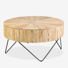 Kent Round Coffee Table with metal base (some assembly required)