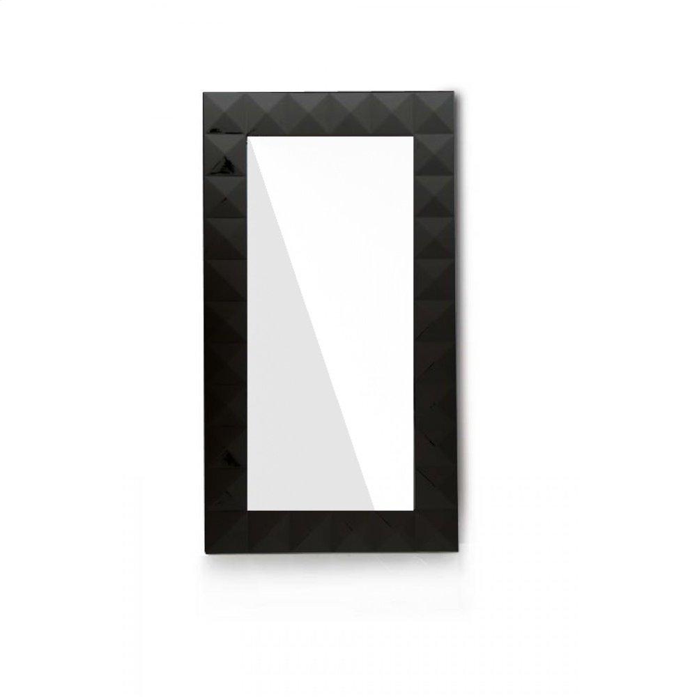 Versus Eva Modern Black Gloss Floor Mirror