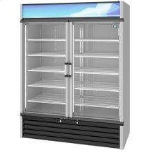 RM-49-HC, Refrigerator, Two Section Glass Door Merchandiser