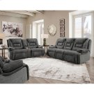 Triple Power Reclining Console Loveseat w/Wand/Lights/Lighted Cupholders/Storage Product Image