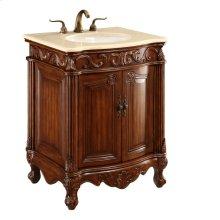 27 in. Single Bathroom Vanity set in Brown