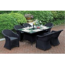 230 / Liz.p23- 7PC OUTDOOR PATIO TABLE SET [P50269(1)+P50134(6)]