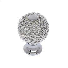 Polished Chrome 28 mm Chain Mail Knob
