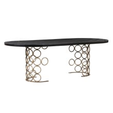 Valentina Brass Dining Table