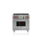 "36"" Dual Fuel Range - 4 Burners and Infrared Charbroiler Product Image"