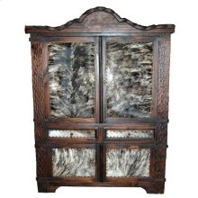 Dark Rope Armoire W/hide