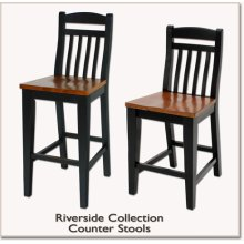 "30"" Slat Back Counter Stool"