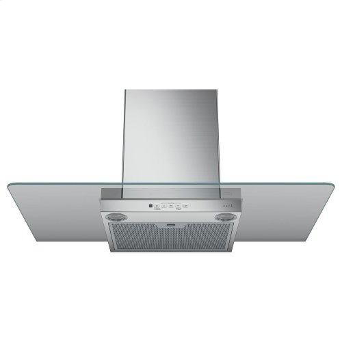 "Café 36"" Wall-Mount Glass Canopy Chimney Hood"