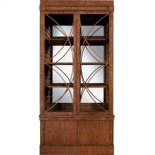 Artisan 2-Door Mahogany Grand Cabinet w/Glass Doors