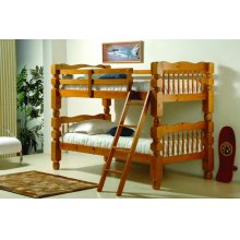 "Twin/ Twin 4"" Jumbo Turned Post Bunkbed"