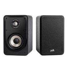 High Resolution Home Theater Compact Bookshelf Speaker in Black