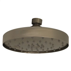 Metrohaus round showerhead with easy-to-clean rubber nozzles and arm. Product Image