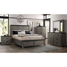 6 PIECE BEDROOM SET (QUEEN BED, DRESSER, MIRROR, NIGHTSTAND)