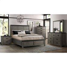 6 PIECE BEDROOM SET (QUEEN BED, DRESSER, MIRROR, NIGHTSTAND)