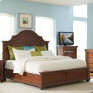 Windward Bay - Queen Low Footboard With Slats - Warm Rum Finish Product Image
