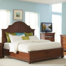Windward Bay - Queen Low Footboard With Slats - Warm Rum Finish