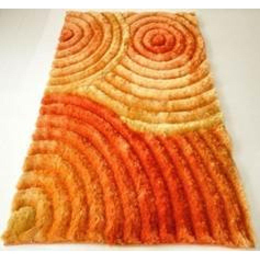 10 Orange 3D Shag