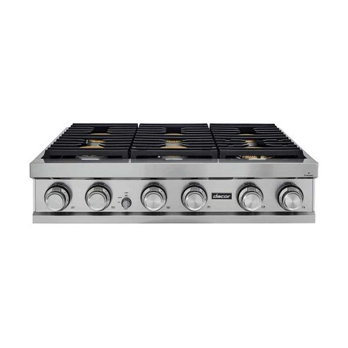 """36"""" Rangetop, Graphite Stainless Steel, Natural Gas"""