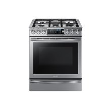 5.8 cu. ft. Slide-In Gas Range with True Convection in Stainless Steel