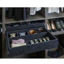 "Felt Covered 24"" Jewelry Organizer. Ships Complete with Dura-Close Slides Attached"
