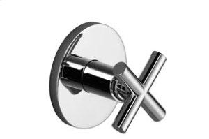 Wall mounted two- and three-way diverter trim - matt platinum Product Image