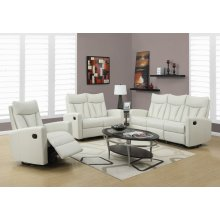 RECLINING - SOFA IVORY BONDED LEATHER