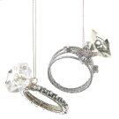 Diamond Ring Ornaments (2 asstd) Product Image