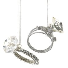 Diamond Ring Ornaments (2 asstd)