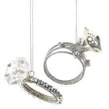 Diamond Ring Ornament (2 asstd).