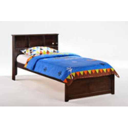Butterscotch Bed in Dark Chocolate Finish - Full
