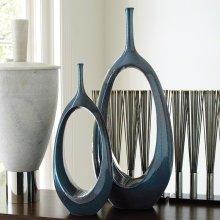 Open Oval Ring Vase-Celestial-Lg