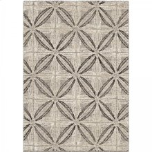 Daisy Contemporary 5x8 Area Rug in Grey/Cream