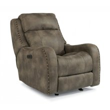 Springfield Fabric Power Gliding Recliner with Power Headrest