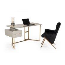 Modrest Deegan Modern Grey & Bronze Desk
