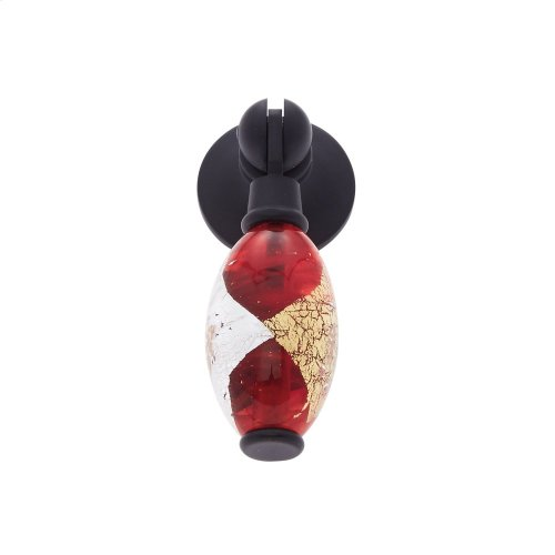 Oil Rubbed Bronze 30 mm Red Pendant Pull