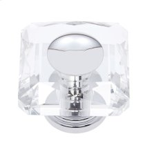 Polished Chrome 50 mm Square Crystal Knob
