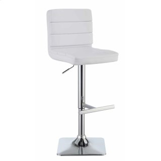Flash Adjustable Bar Stool White